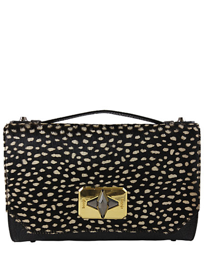 Treesje Harlow Leather & Haircalf Convertible Clutch