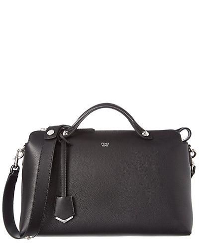 FENDI By the Way Large Leather Boston Bag