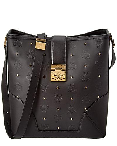 MCM Claudia Studs Medium Canvas & Leather Shoulder Bag