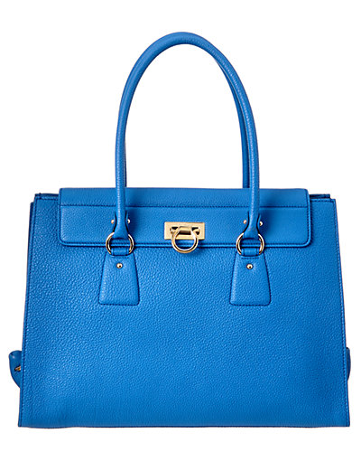 Salvatore Ferragamo Lotty Large Gancio Leather Tote