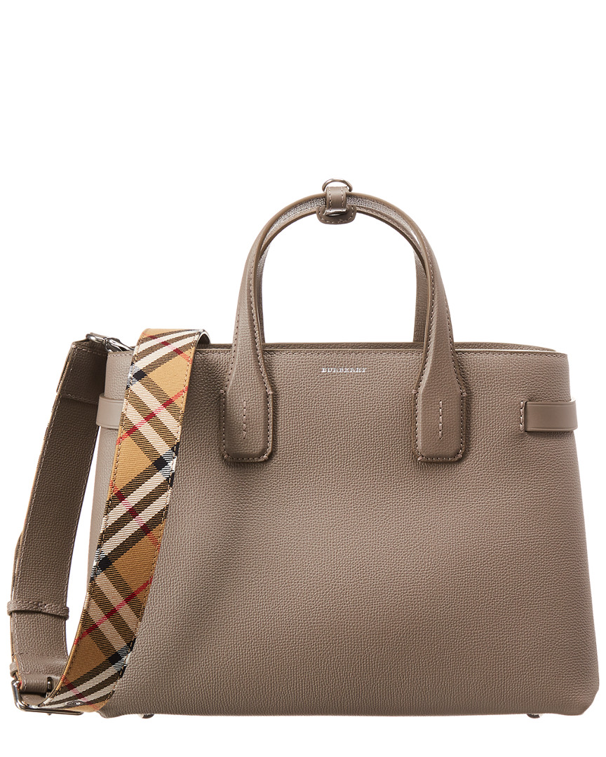 a96f8e5b2 Burberry Medium Banner Vintage Check & Leather Tote 5045556570565 | eBay