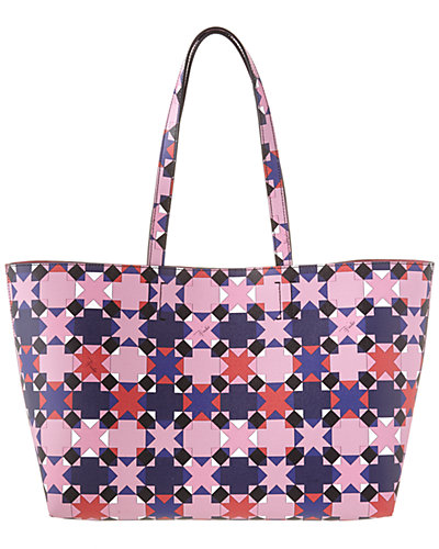 Emilio Pucci Printed Saffiano Leather East West Tote
