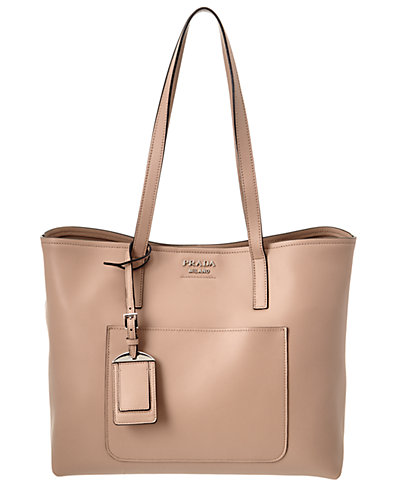 Prada City Calf Leather Tote