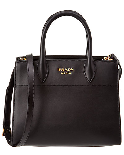 Prada Bibliotheque Ayers & Calf Leather Shoulder Bag
