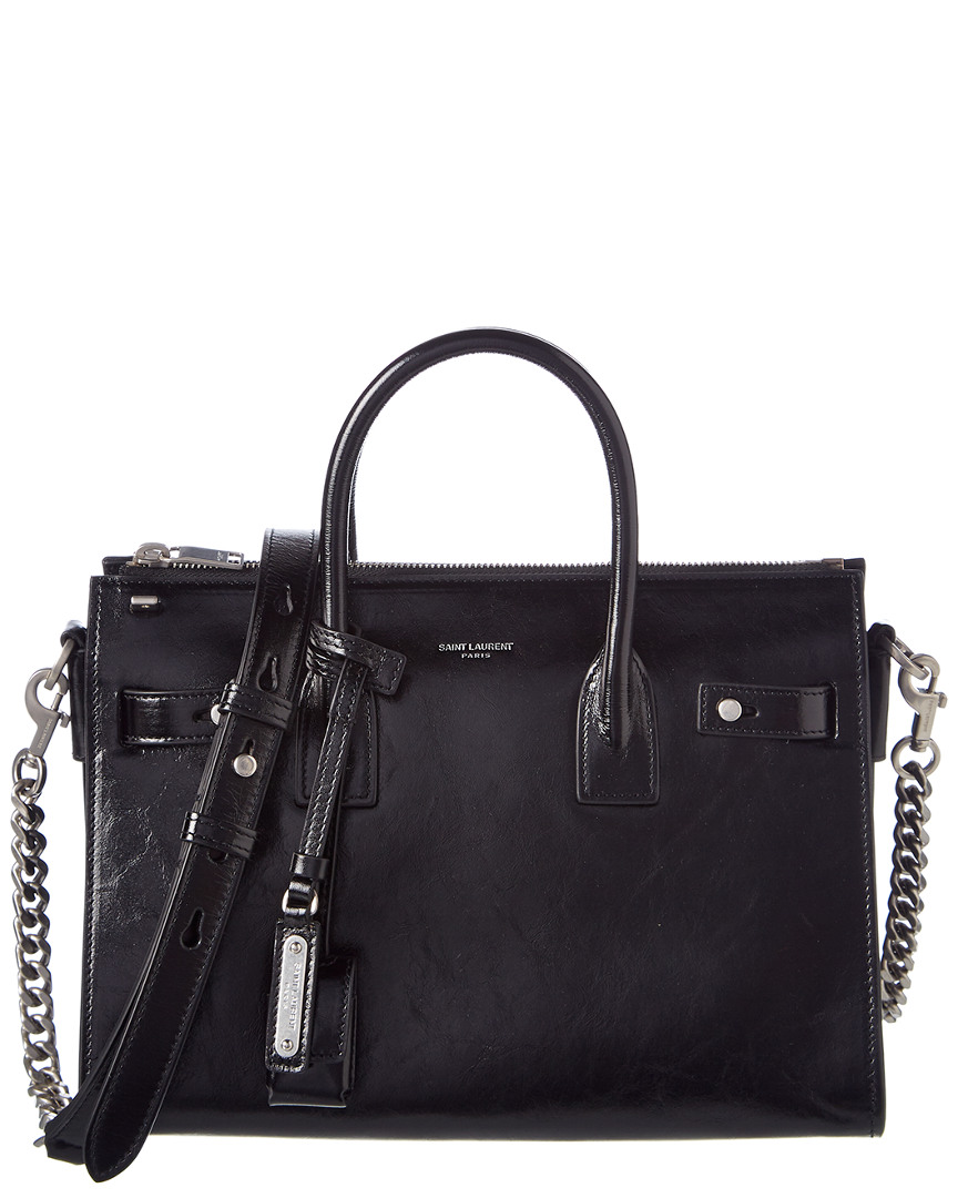 BABY SAC DE JOUR LEATHER TOTE