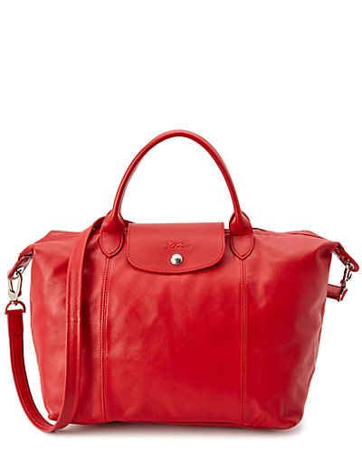 Longchamp Le Pliage Cuir Leather Medium Handbag