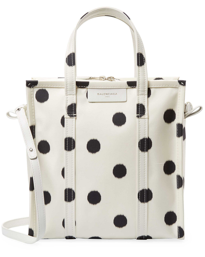 BAZAR SMALL AJ POLKA DOT SILK SHOPPER TOTE