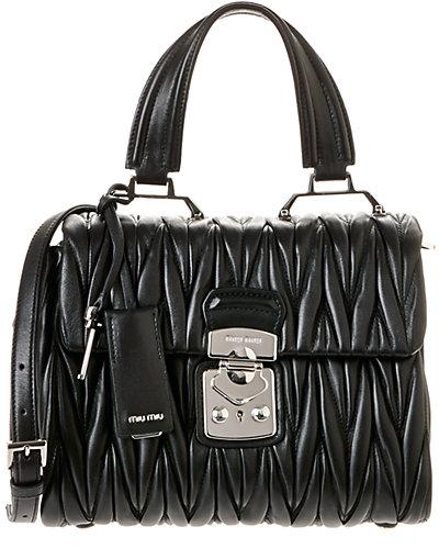 MIU MIU Matelassé Leather Top Handle Tote