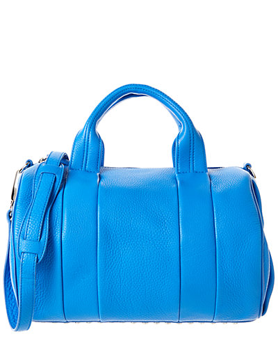 Alexander Wang Rocco Leather Satchel with Rhodium