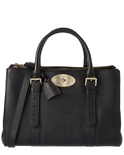 Mulberry Bayswater Small Double Zip Classic Grain Leather Tote