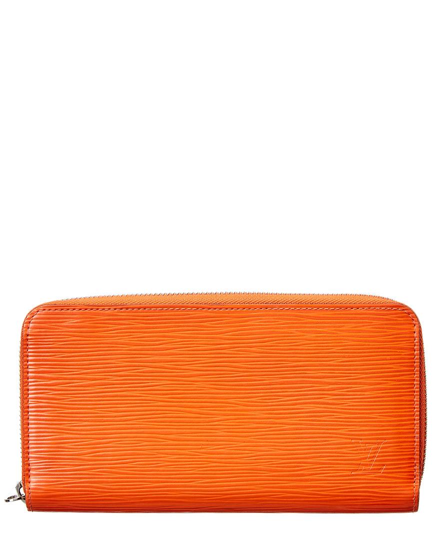 63dbbd811c23 Louis Vuitton Womens Orange Epi Leather Zippy Wallet
