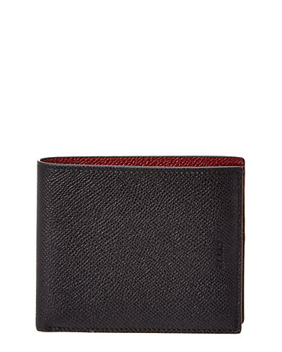 Bally Bollen Bicolor Leather Bifold Wallet