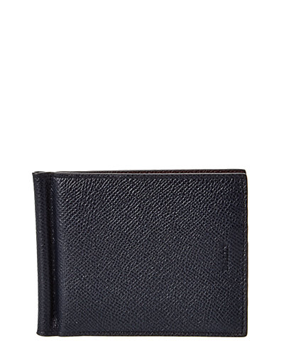 Bally Bodolo Leather Money Clip Bifold Wallet