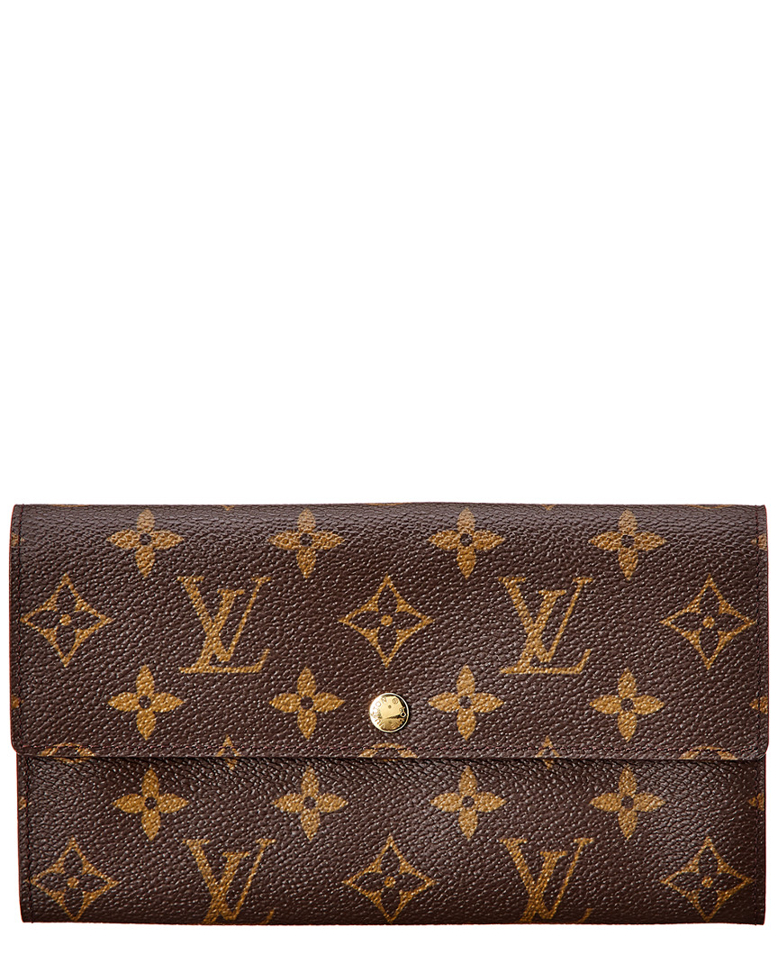 Monogram Canvas Sarah Wallet, Nocolor