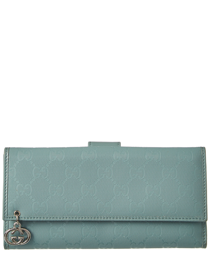 649d8a701f2 Gucci Womens Blue Gg Imprime Leather Wallet | eBay