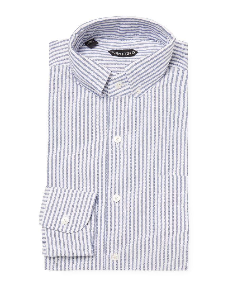 Tom Ford Mens Striped Dress Shirt 39 Ebay