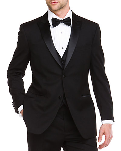 Ike Evening by Ike Behar 2-Button Peak Lapel Classic Fit Tuxedo