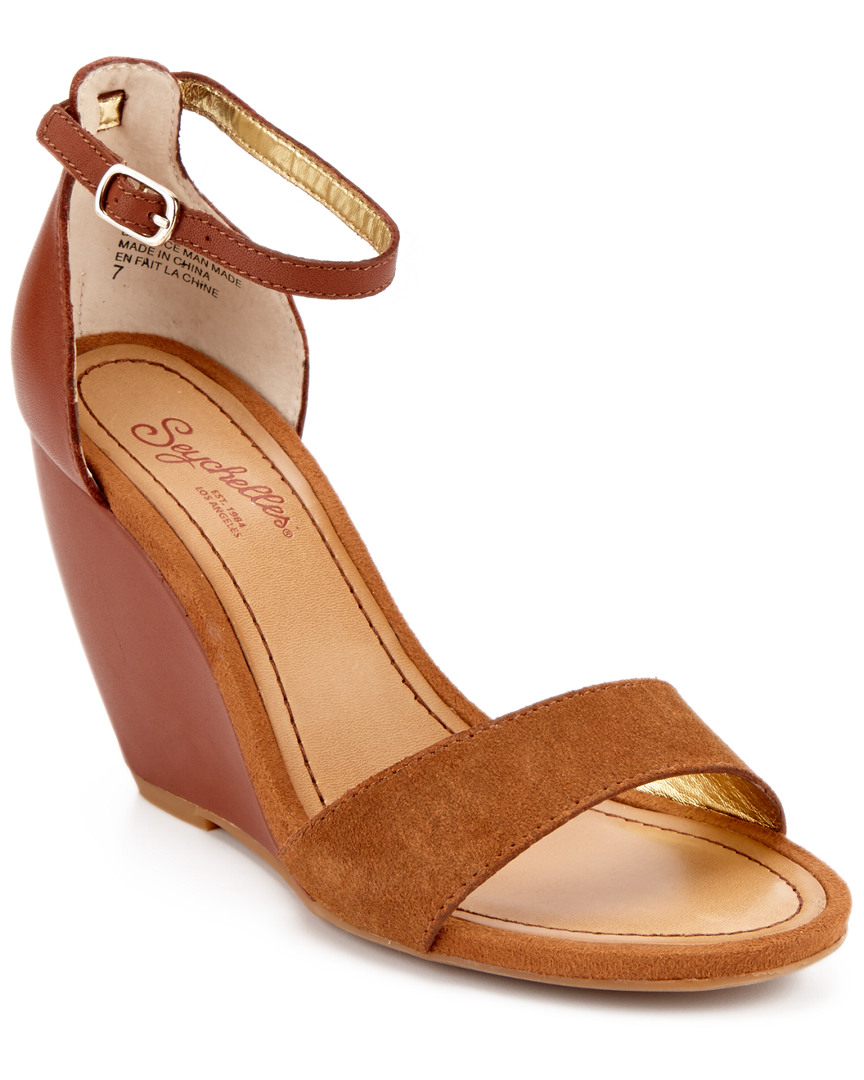 Seychelles THYME LEATHER & SUEDE WEDGE SANDAL