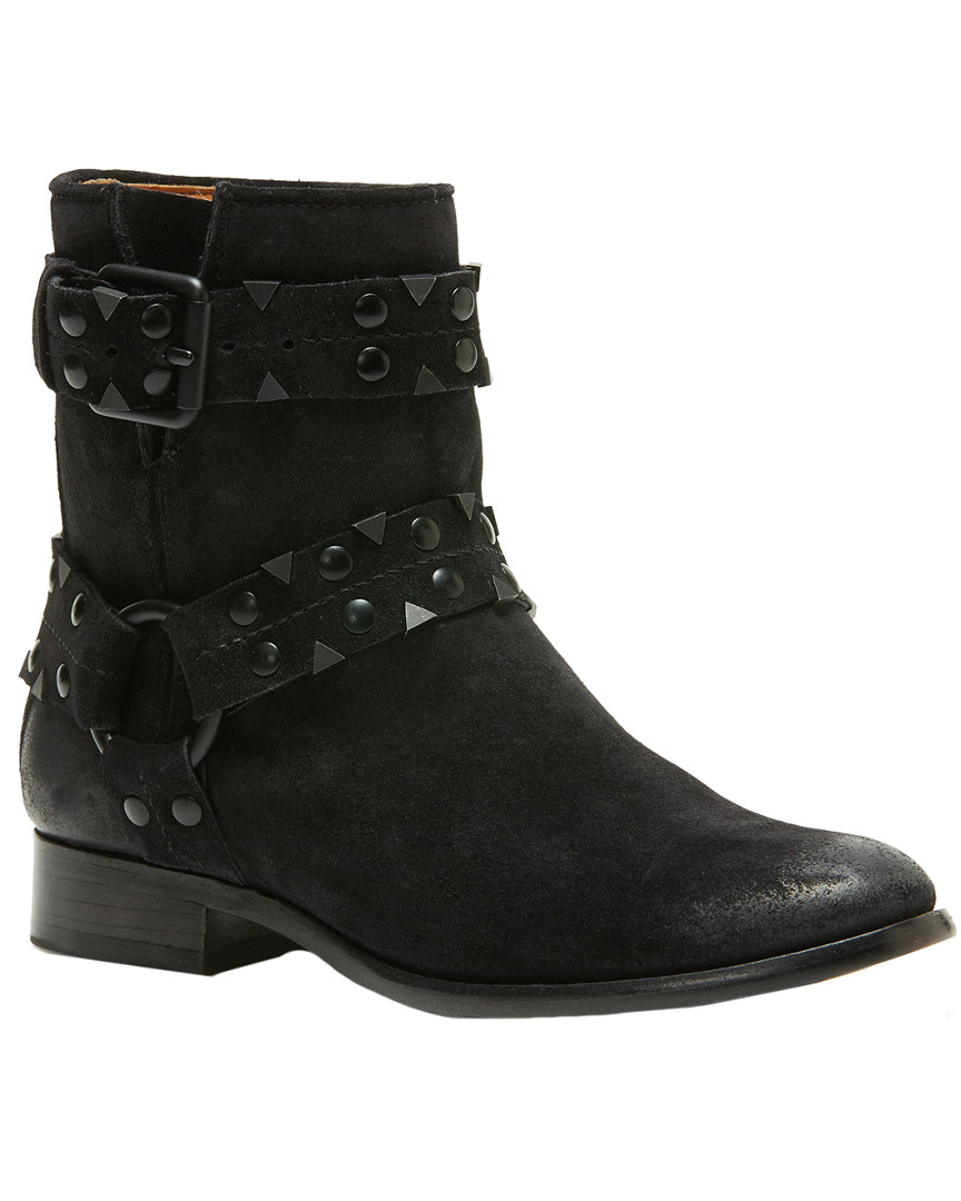 CARLY STUD SHORT SUEDE BOOTIE