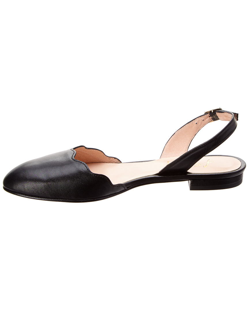 842800161457 6 Leather Angelou French Flat Sole Black 0qY8B8