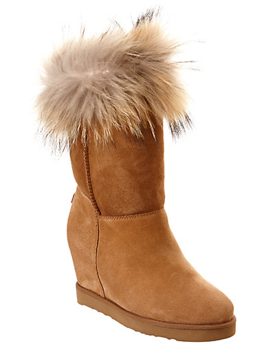 Australia Luxe Collective Foxy Suede Wedge Boot