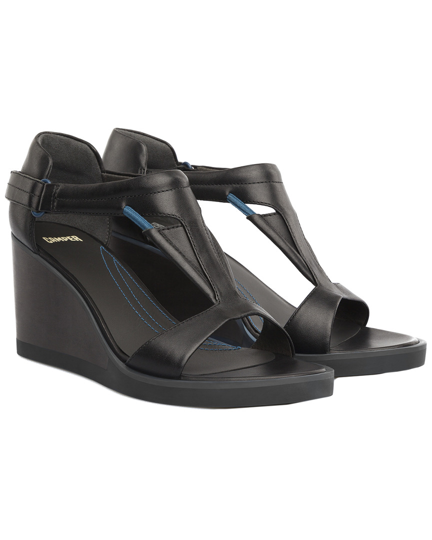 a7c34316d24 Camper Limi Leather Wedge Sandal