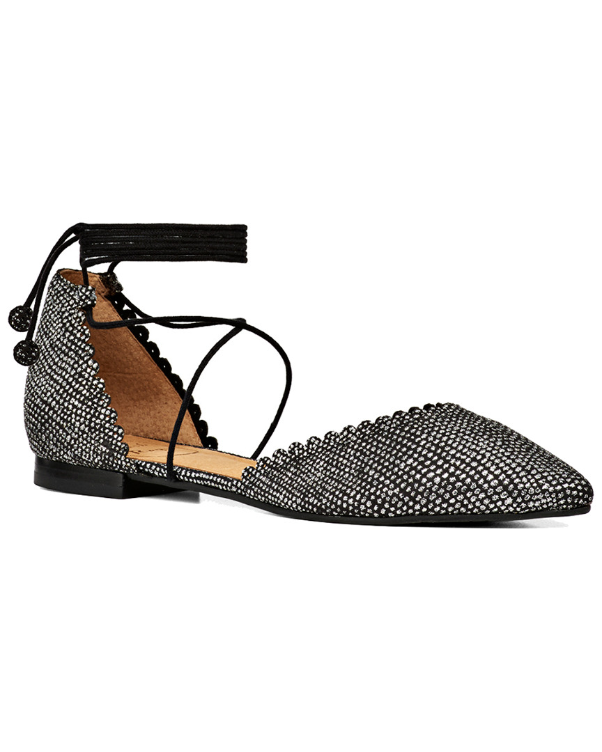 CAMILLE SPARKLE LEATHER FLAT
