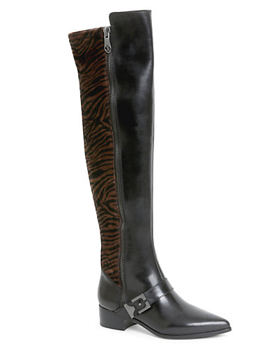 Carolinna Espinosa Dalton Leather & Hair Calf Over-The-Knee Boot