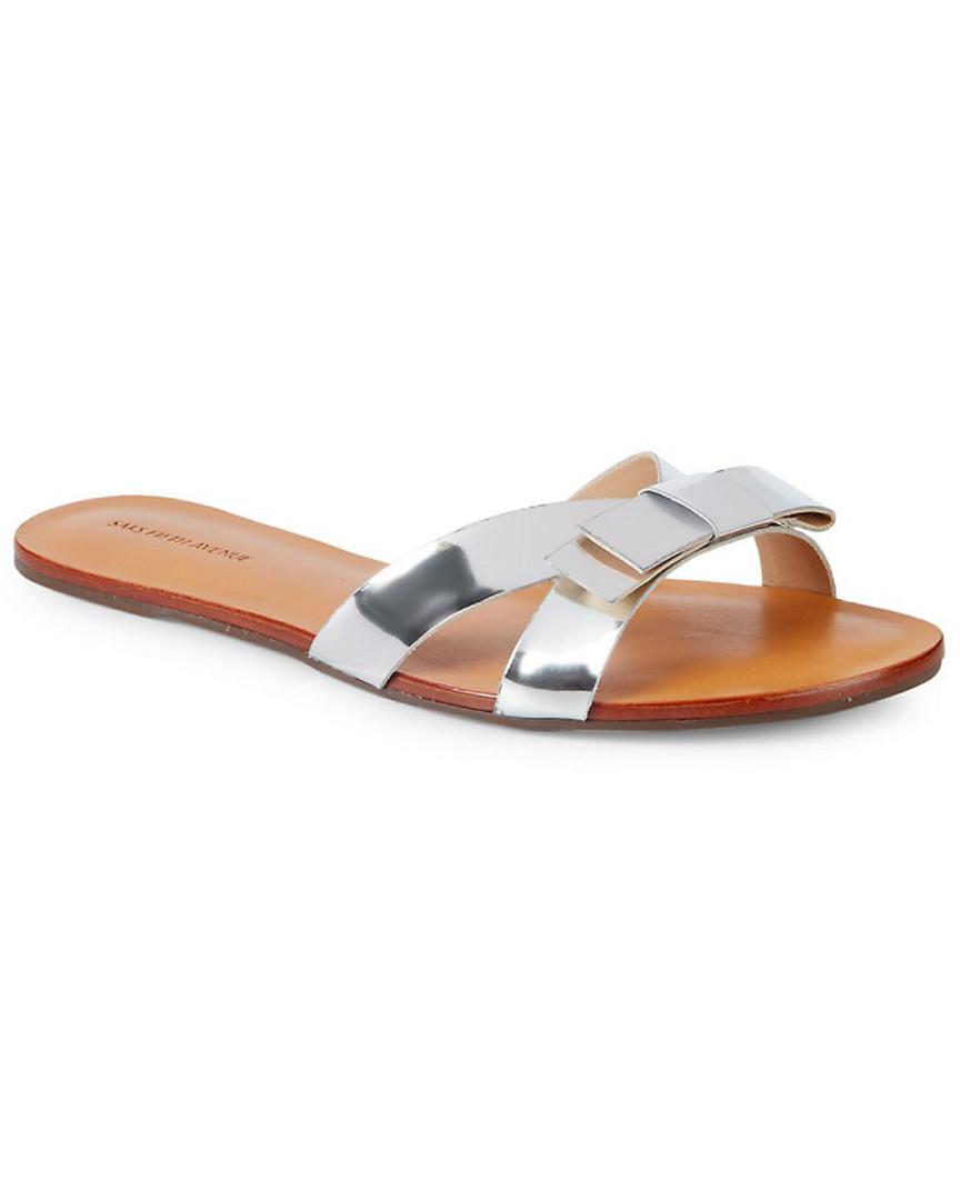BOW LEATHER SLIDE