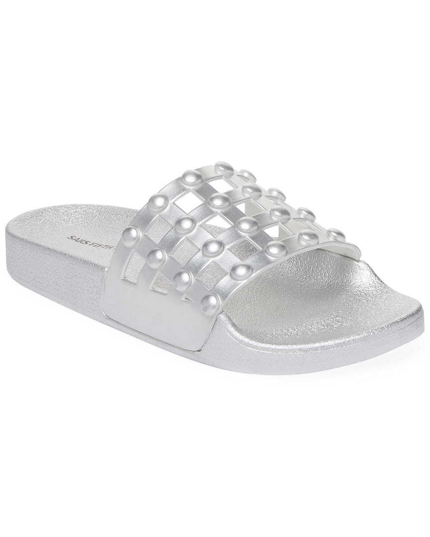 METALLIC POOL SLIDE SANDAL