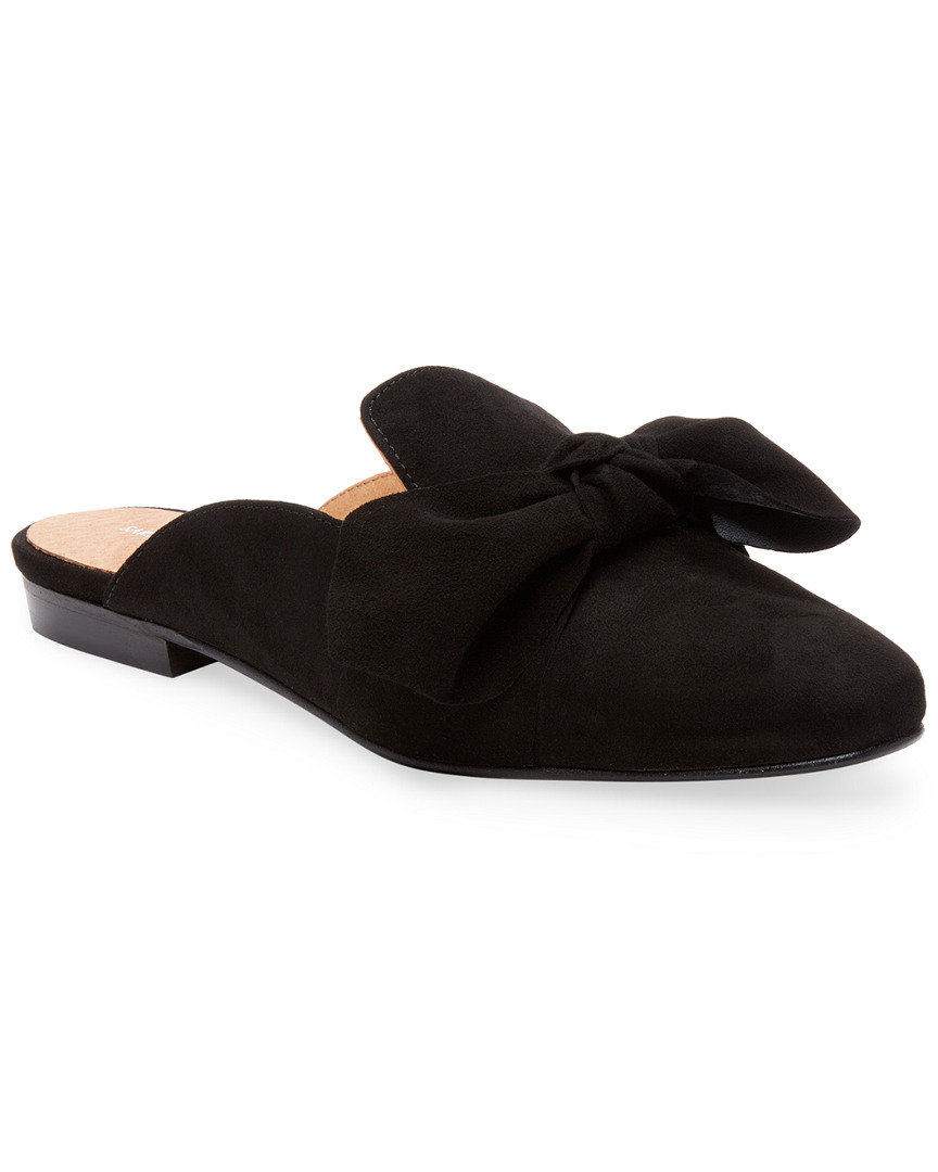 SUEDE BOW MULE