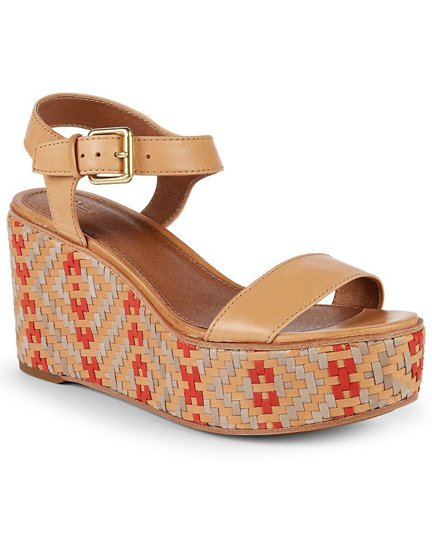 36f5026f5 Frye Heather Woven Leather Wedge Sandal