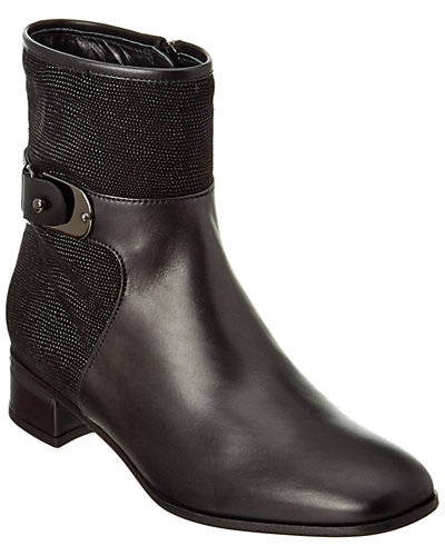 Aquatalia Lake Waterproof Leather & Suede Bootie