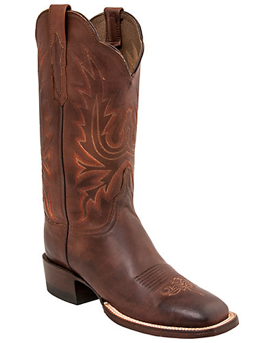 Lucchese Women's Burn Ranch Leather Western Boot