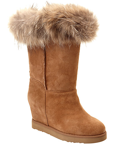 Australia Luxe Collective Luxe Foxy Suede Wedge Boot