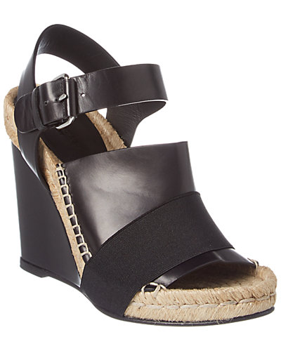 Balenciaga Rope Elastic & Leather Wedge Sandal