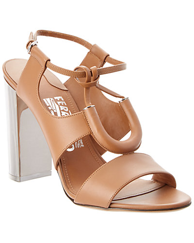 Salvatore Ferragamo Galilea Leather Sandal