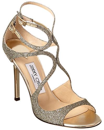 Jimmy Choo Lang Lame Glitter Sandal