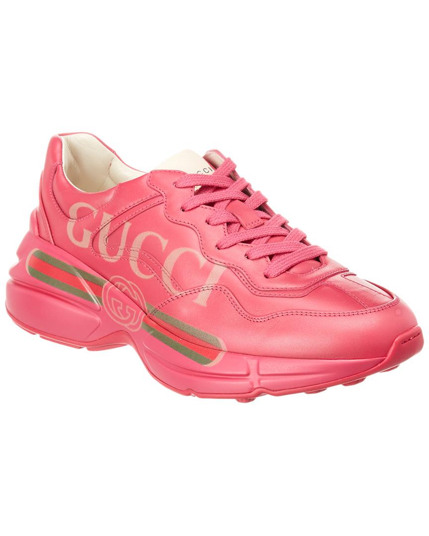 Gucci Rhyton Logo Leather Sneaker   eBay 1ce2b24184