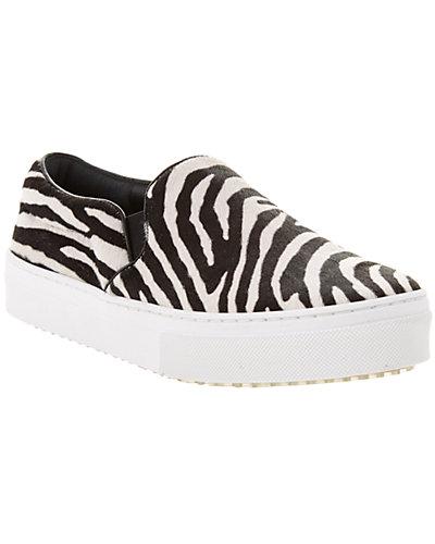 CÉLINE Zebra Haircalf Slip-On Sneaker