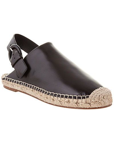 CÉLINE Leather Espadrille Slingback Flat Mule