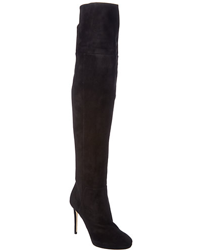 Jimmy Choo Hayley 100 Suede Over-The-Knee Boot