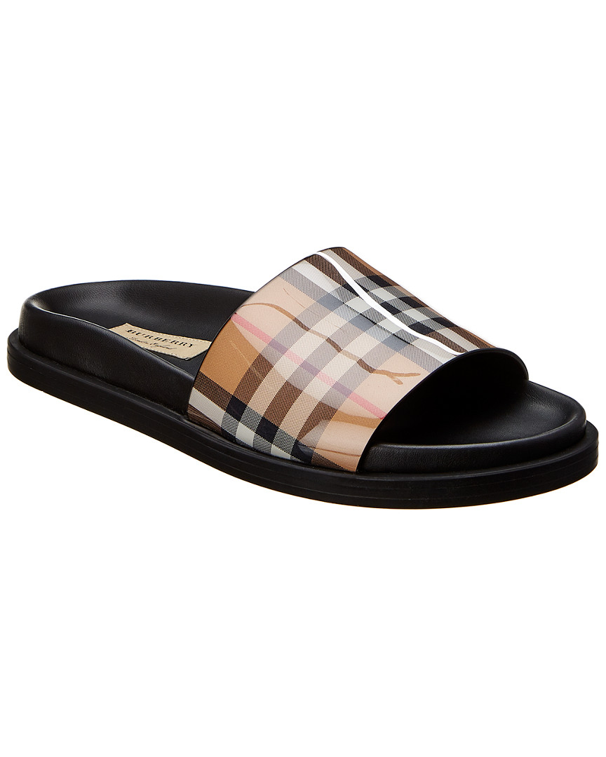 2bf6c9c1bb0f Burberry Vintage Check   Leather Slide