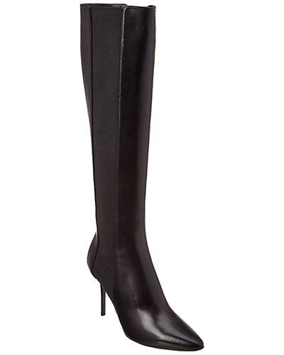 Jimmy Choo Faith 85 Shiny Leather Stretch Knee Boot