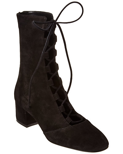 Gianvito Rossi Suede Lace-Up Boot