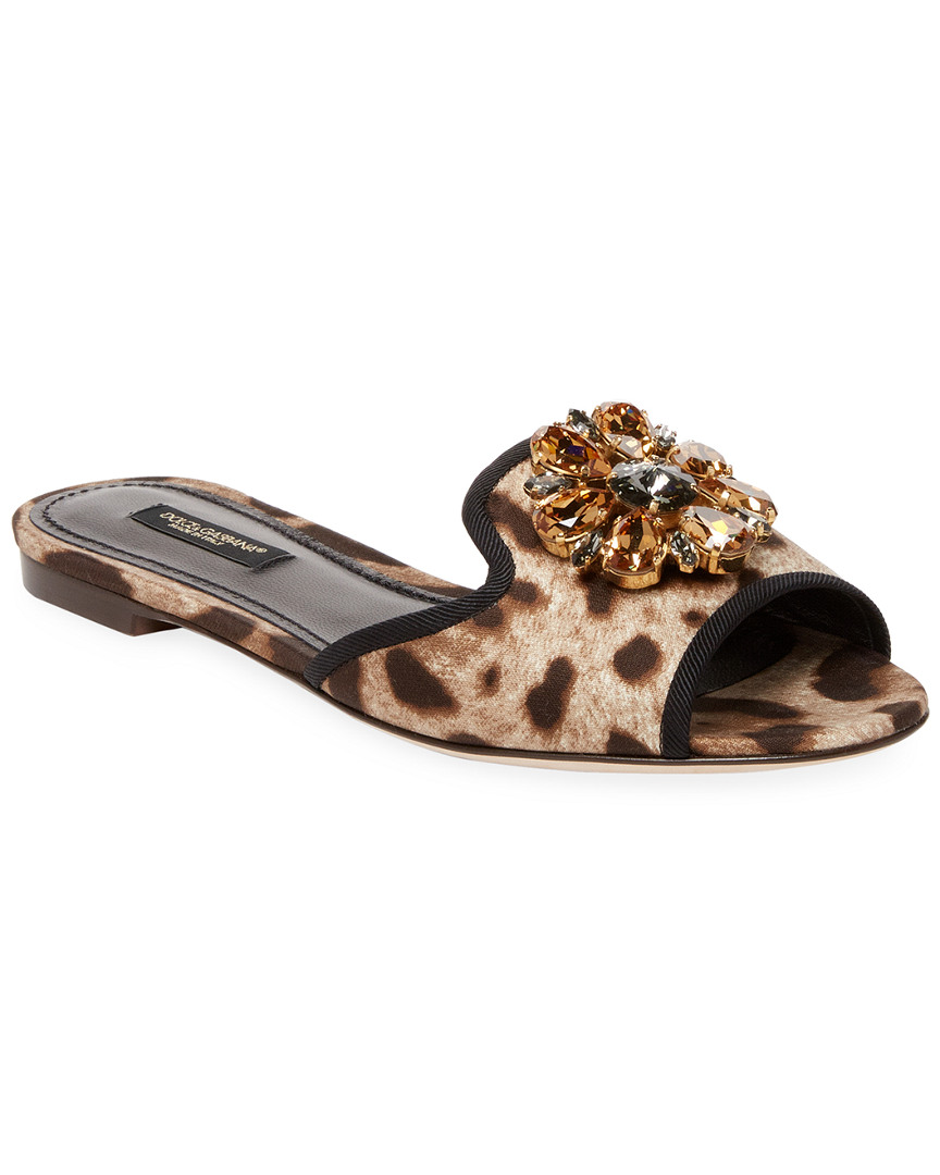 cdb0e5ff74c Dolce   Gabbana Leopard Print Embellished Slide