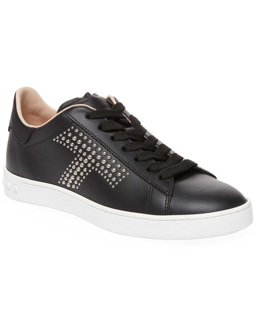 STUDDED T LEATHER SNEAKER