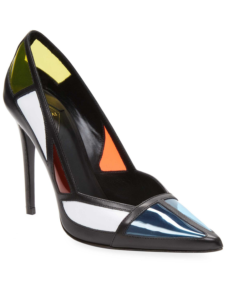 COLORBLOCK LEATHER PUMP