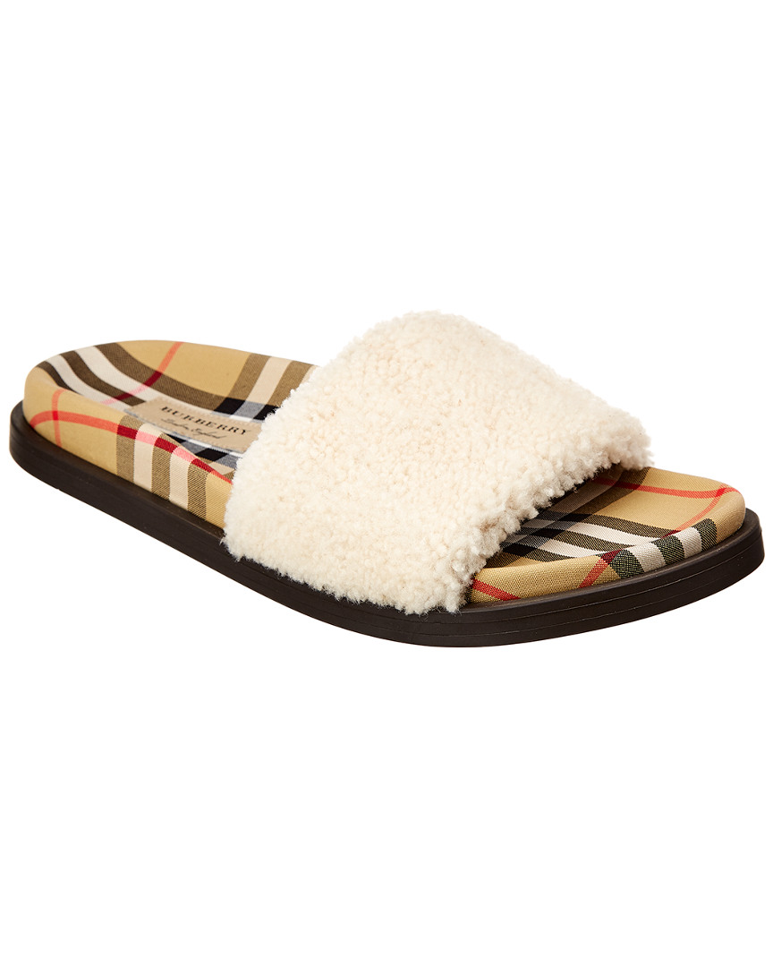e91beee53 Burberry Vintage Check Leather Slide
