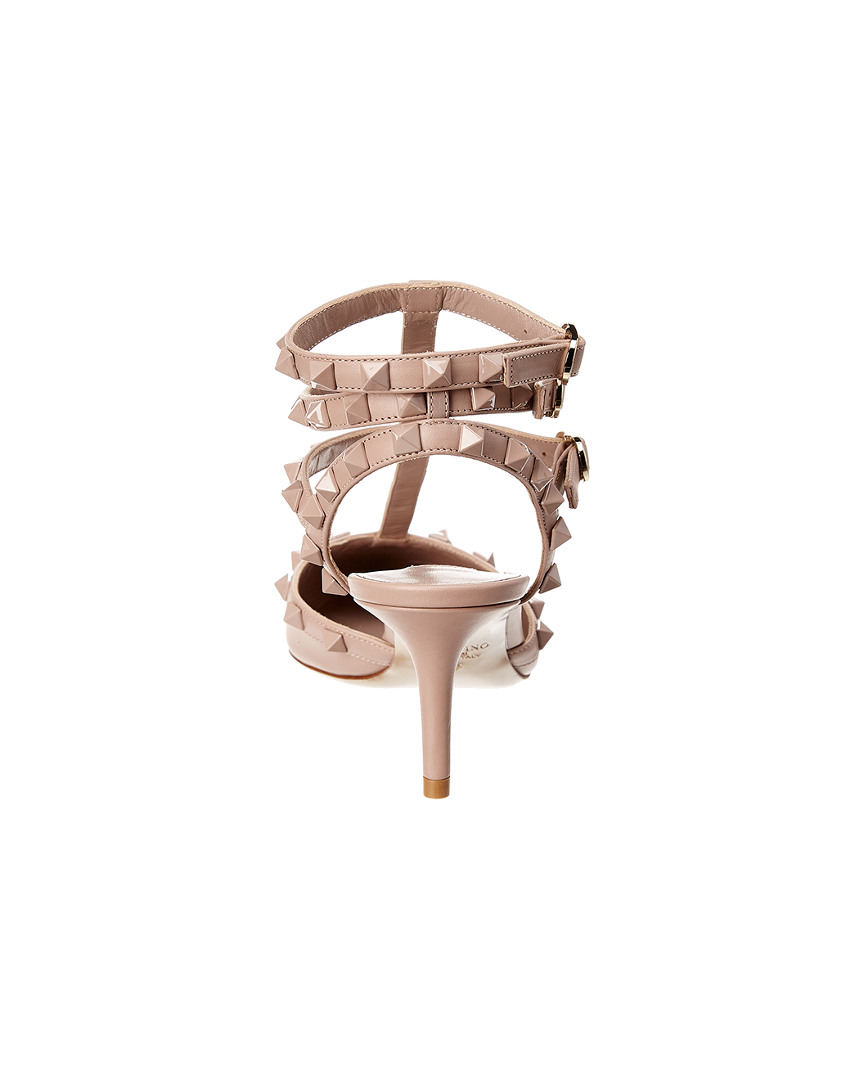 Valentino-Cage-Lacquer-Rockstud-65-Leather-Ankle-Strap-Pump-Women-039-s thumbnail 8